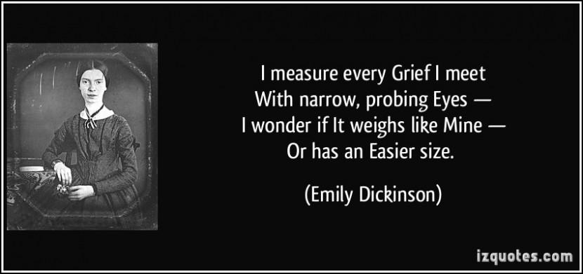 এমিলি ডিকিন্সনের কবিতা সংগ্রহ থেকে-I measure every Grief I meet